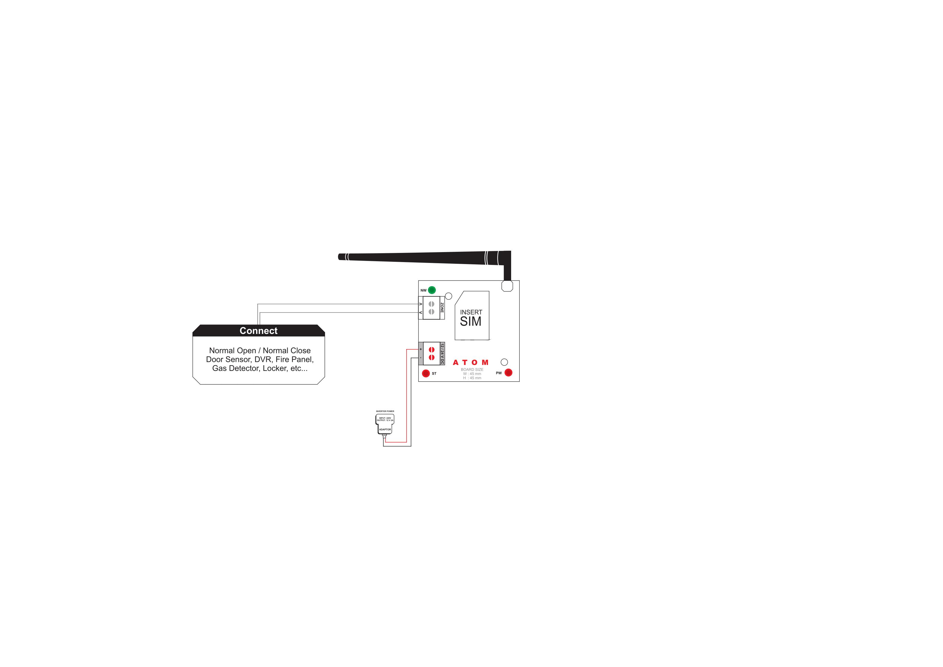 Burglar Alarm Product Wiring Diagram