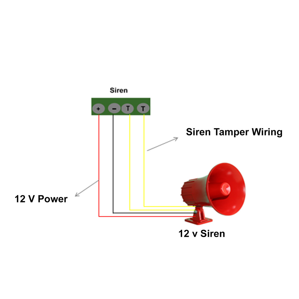 Siren Speaker Wiring Diagram Great Design Of 4 Ohm Guitar Intrusion Alarm System Security 6 8 Speakers